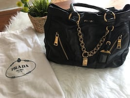 Authentic PRADA 'Vitello Shine' Tote Bag