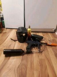 paintball gun with two tanks Hopper in helmet Mississauga, L5A 3M6