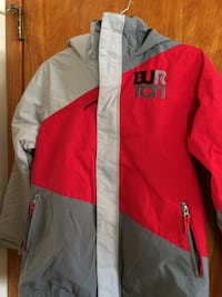 red and white zip-up jacket CRANFORD