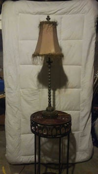 black metal based brown top table lamp Kingston, K7M 1B5