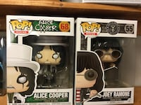 Alice Cooper & Joey Ramone Funko Pop Figures  Cambridge, N1P