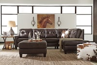 Brand new genuine leather sectional Massapequa