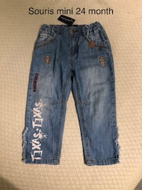 New souris mini baby jeans 24 month