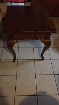 brown wooden side table with drawer Pearl, 39208