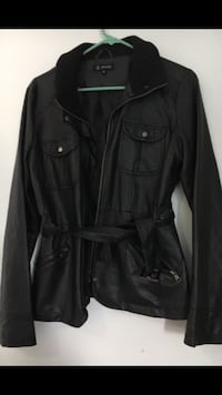 black leather trench coat North Haven, 06473