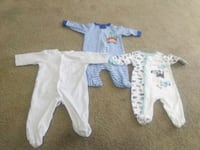 baby's white and blue footie pajama Robertsdale, 36567