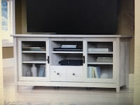 white wooden TV stand with flat screen television Los Angeles, 91403