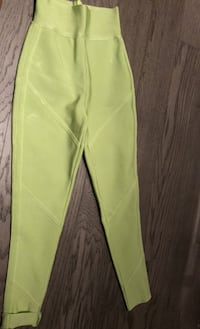 Meshki Lime Green High Waisted Bandage Pants Size xs Toronto, M4Y 0E4