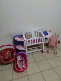 Cute Baby Crib,stroller, doll, carriers Lot good condition Toronto, M6N 1S1