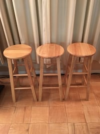 "3 Wood Barstools 29"" Tall Alexandria, 22304"