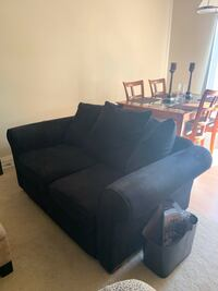 Black microfiber loveseat OREGONCITY