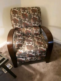 brown and white floral padded armchair Saskatoon, S7J 2X3