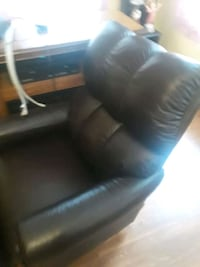 Black leather rocker recliner  Leicester, 01524