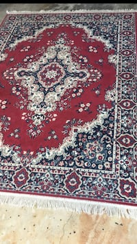 red, white, and black floral area rug North Port, 34287