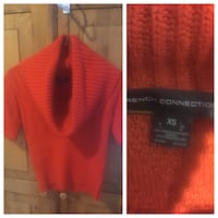 French Connection orange sweater - Women's size XS Vancouver