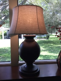 Dark brown lamp, great condition, works great! Ocala, 34472