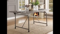 Brand new in box - industrial dining table  Calgary, T2K 0X1
