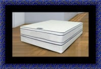 Queen mattress double pillow top with box spring Adelphi