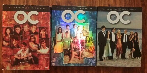 THE OC - Seasons 1+2+3 On DVDs Used in excellent c