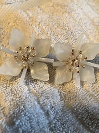 Hand crafted white flower shaped boutique earrings  Fredericksburg, 22408
