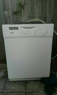 white Amana dishwasher