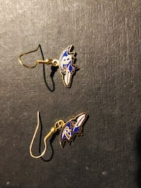pair of silver and blue hook earrings Prince Frederick, 20678