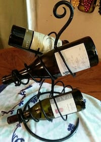 black steel wine rack