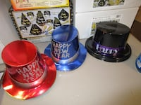 red, blue, and black top hats FAYETTEVILLE