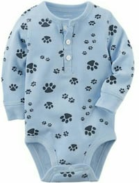NEW WITH TAG PAW PRINT BODYSUIT FOR A NEWBORN Monrovia, 21770