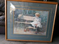 brown wooden framed painting of woman Henderson