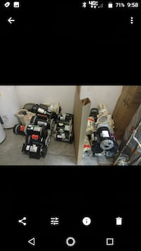 Pool and spa Motors and pumps all sizes