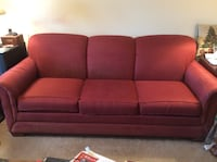 red fabric 3-seat sofa Inwood, 25428
