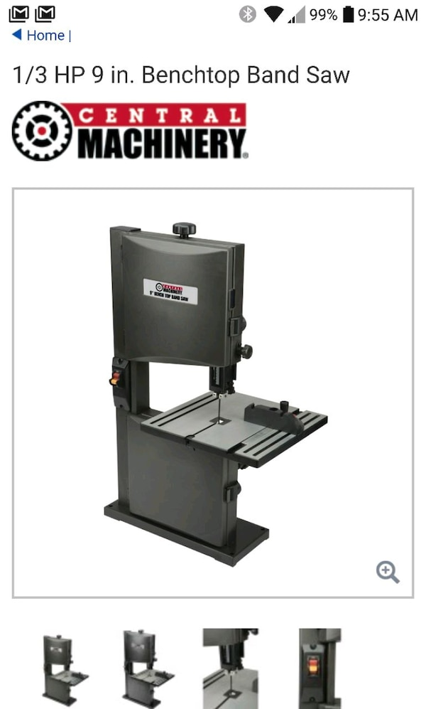 Used Harbor Freight 1 3 Hp 9in Benchtop Band Saw For Sale In