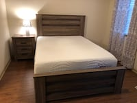 Headboard and base for queen bed