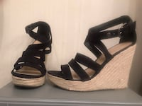 Black Mossimo strappy wedge sandals Annandale, 22003