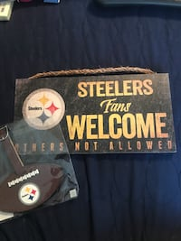 Steelers plaque and suitcase tag Arlington Heights, 60004