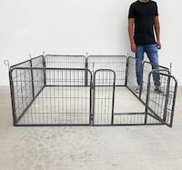"""New $60 Heavy Duty 24"""" Tall x 32"""" Wide x 8-Panel Pet Playpen Dog Crate Kennel Exercise Cage Fence Play Pen South El Monte"""