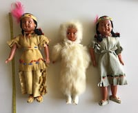 Collection of 3 1970s Vintage First Nation/ Inuit Dolls -7 inches tall Calgary, T2S