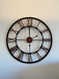 Black & bronze wall clock