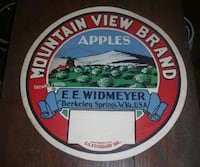 Apple paper label from Berkeley springs orchard Inwood