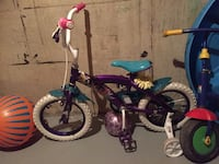 toddler's purple and pink bicycle with training wheels Winnipeg, R2W