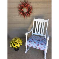 white and blue floral padded chair Tulsa, 74133