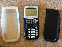 black and white Texas Instruments TI-84 Plus