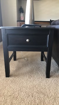 Black Sofa Table with matching End Table.  Both in Great Condition  Henderson, 89044