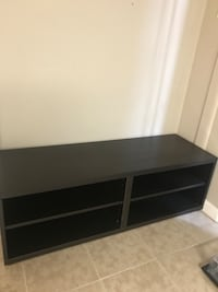 Black wooden 3-layer tv stand 1 1/2 feet tall 4 feet wide 16 inches deep Columbia, 21045