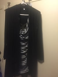 Black and white long-sleeved dress Montreal, H3J 1L2