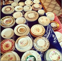 "Large ""Set"" or ""Collection"" of Mis-Matched Vintage China/Plates (large + small) PITTSBURGH"