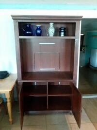 brown wooden TV hutch Port Barre, 70577