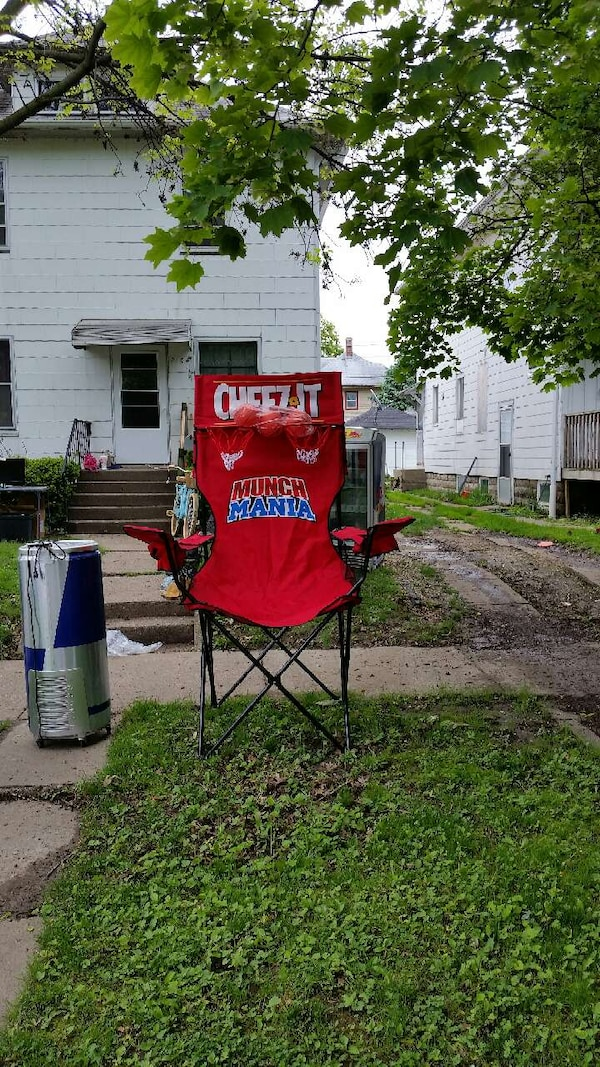 used red cheez it munch mania graphic camping chair for sale in