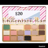 Two faced white chocolate bar makeup palette $20 Citrus Heights, 95621